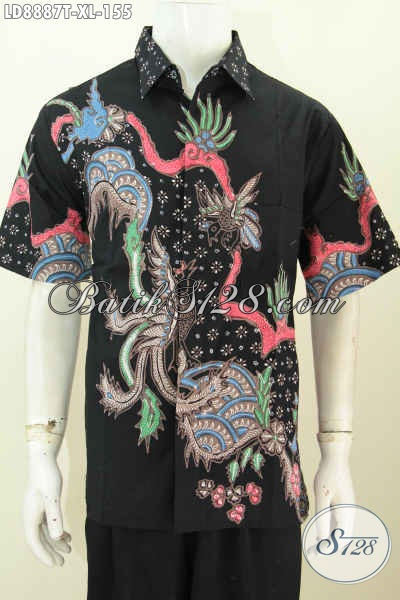 Sedia Pakaian Batik Lengan Pendek Pria Terbaru, Hem Batik Modern Pilihan Komplit Bahan Halus Hanya 100 Ribuan, Size XL