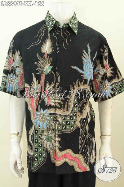 Baju Batik Big Size, Hem Batik Pria Gemuk, Kemeja Batik Modis Proses Tulis Buatan Solo Hanya 155K, Ukuran XXL