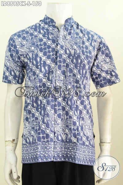 Baju Batik Koko Pria Lengan Pendek, Hadir Dengan Motif Elegan Sentuhan Klasik Proses Cap Harga 150K [LD8895CK-S]