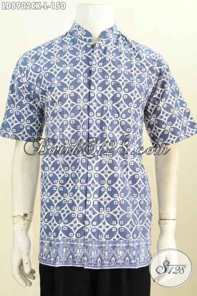 Baju Batik Koko Elegan Lengan Pendek Motif Bagus Proses Cap Harga 150K, Cocok Buat Kerja Kantoran Dan Acara Formal [LD8902CK-L]