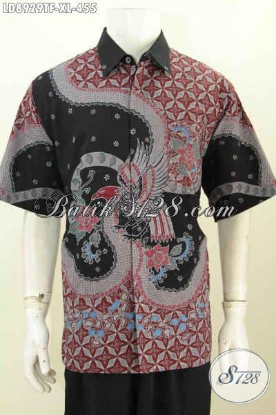 Hem Batik Solo Halus, Kemeja Batik Jawa Etnik, Produk Baju Batik Solo Jawa Tengah Kwalitas Premium 400 Ribuan, Size XL