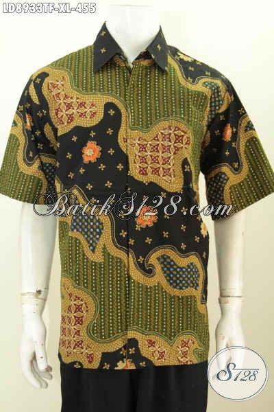 Trend Busana Batik Solo Istimewa, Kemeja Batik Lengan Pendek Full Furing Halus Proses Tulis Harga 455 Ribu, Size XL