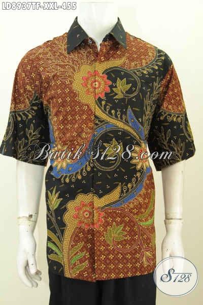 Pakaian Batik Solo Jawa Tengah Pilihan Komplit, Tersedia Ukuran 3L Buat Pria Gemuk, Size XXL