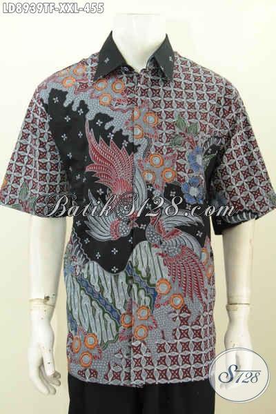 Baju Batik Kerja Pria Gemuk, Pakaian Batik Solo Lengan Pendek XXL Full Furing Motif Bagus Proses Tulsi 400 Ribuan Saja