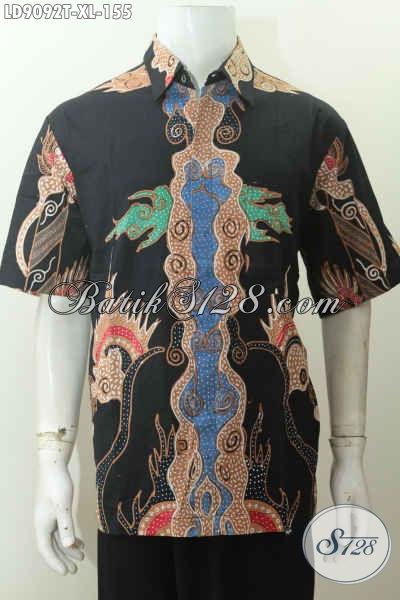 Sedia Busana Batik Pria Masa Kini, Tren Busana Nasional Indonesia, Hem Batik Tulis Lengan Pendek