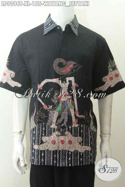 Koleksi kemeja Batik Tulis Motif Simple Minimalis, Wayang Setyaki, Bahan Katun Halus