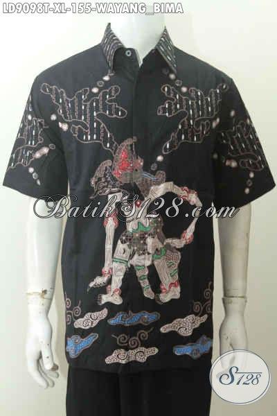 Produk Kemeja Batik Pria Dewasa Motif Wayang Bima Size XL, Hadir Dengan Desain Kekinian Proses Tulis Hanya 155K