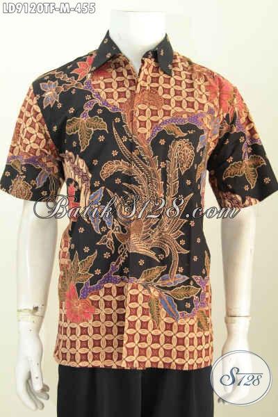 Jual Kemeja Lengan Pendek Full Furing Bahan Batik Tulis Solo Premium, Hadir Dengan Desain Modis Untuk Penampilan Makin Tampan [LD9120TF-M]