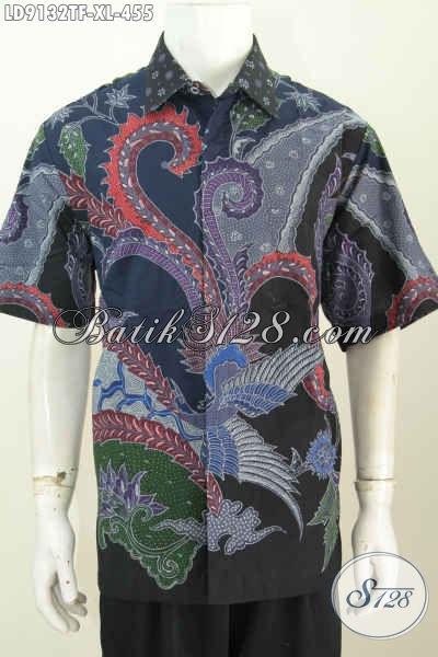 Kemeja Pria Dewasa Lengan Pendek, Batik Halus Full Furing Kwalitas Istimewa Untuk Penampilan Lebih Mempesona [LD9132TF-XL]