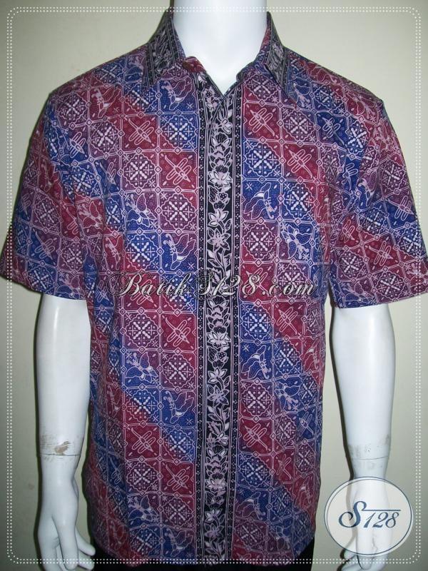 Batik Pria Warna Gradasi Elegan dan Keren, Size L [LD918CG-L]