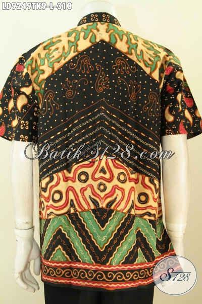 Koko batik kerah moslim nampak belakang