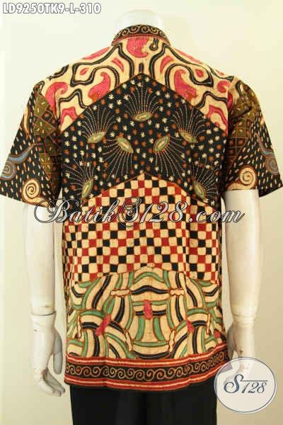 Model Baju Batik Kombinasi Pria Terbaru, Hem Kerah Shanghai Lengan Pendek Berkelas Proses Tulis, Cocok Buat Kerja Dan Acara Resmi [LD9250TK-L]