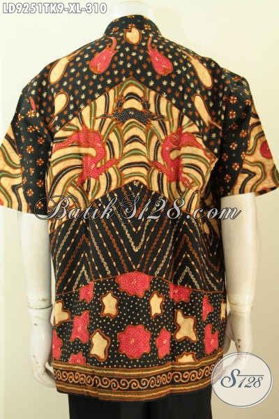 Model Baju Batik Pria Gaul, Hem Lengan Pendek Koko Kerah Shanghai Halus Motif Klasik Proses Tulis, Tampil Gagah Dan Tampan [LD9251TK-XL]