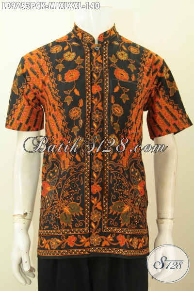 Aneka Baju Batik Koko Kerah Shangai Lengan Pendek Pria Muda Dan Dewasa Motif Klasik, Pakaian Batik Berkelas Harga Terjangkau, Penampilan Lebih Rapi Dan Macho [LD9253PCK-XL]