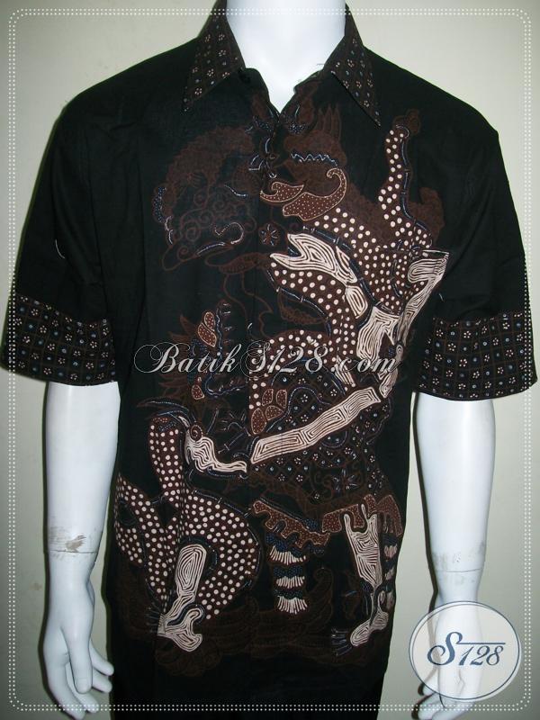 Batik Tulis Wayang Pria Warna Coklat Soga, Corak Jagal Abilowo / Brotoseno[LD927T-XL]
