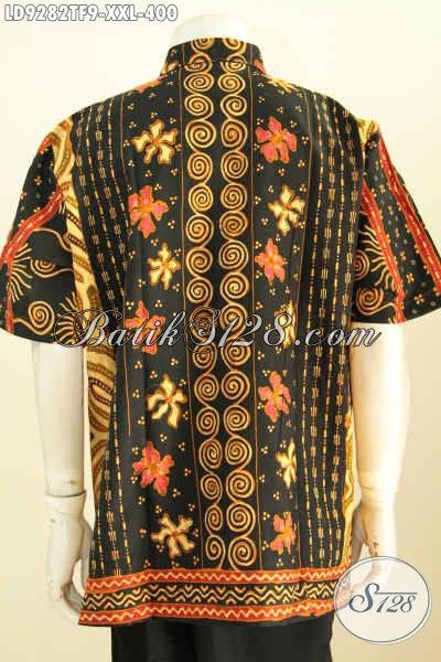 Hem BatikBig Batik Big Size Klasik, Kemeja Batik Solo Halus Untuk Pria Gemuk Motif Sinaran Desain Modern Lengan Pendek Pake Furing Harga 400K [LD9282TF-XXL]