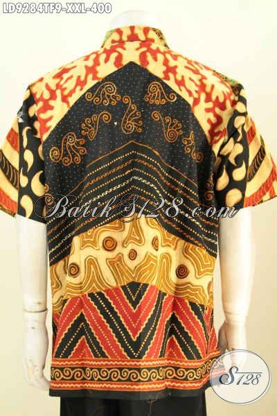 Baju Batik Mewah Big Size Kemeja Batik Kerja Pria Gemuk Full