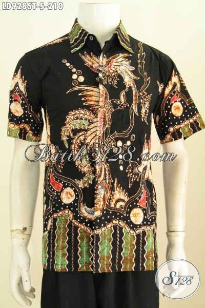 Kemeja Batik Tulis Motif Trendy, Baju Batik Lengan Pendek Keren Untuk Penampilan Cowok Lebih Modis [LD9285T-S]