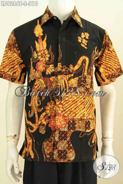 Jual Online Kemeja Batik LEngan Pendek, Proses Batik Tulis Size S