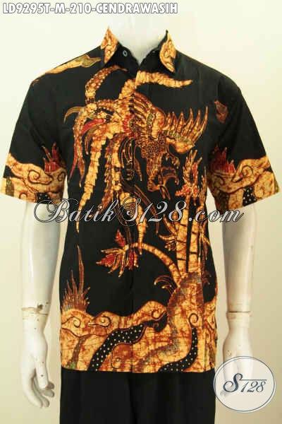 Baju Batik Solo Halus, Kemeja Batik Jawa Etnik, Pakaian Batik Lengan Pendek Proses Tulis Bahan Halus Nyaman Di Pakai Dengan Desain Terkini [LD9295T-M]