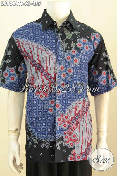 Jual Kemeja Batik Online, Hem Batik Kwalitas Premium Lengan Pendek Full Furing Motif Bagus Proses Tulis 400 Ribuan [LD9364TF-XL]