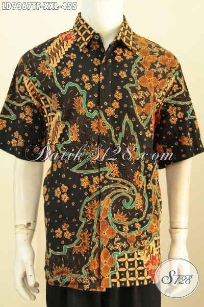 Hem Batik Premium Big Size, Kemeja Pria Gemuk Full Furing Motif Bagus Proses Tulis, Cocok Buat Kerja Kantoran [LD9367TF-XXL]