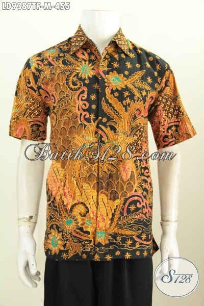 Jual Kemeja Lengan Pendek Seragam Kerja Pria Sukses, Baju Batik Full Furing Motif Mewah Proses Tulis Harga 455K [LD9387TF-M]