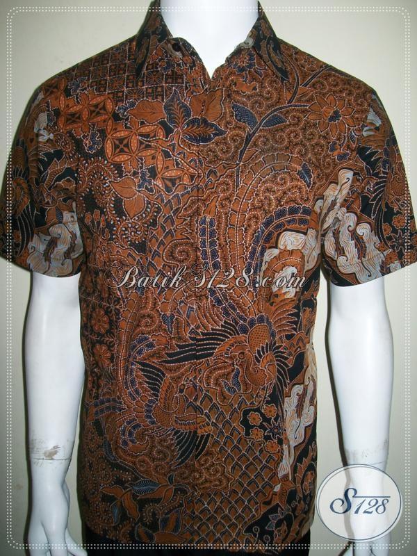 Hem Batik Elegan Pria, Ukuran M Lengan Pendek [LD938BT-M]