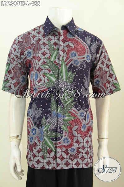 Baju Batik Pria Berkwalitas Tinggi, Hem Batik Lengan Pendek Premium Full Furing Bahan Halus, Cocok Untuk Kerja Dan Acara Resmi [LD9390TF-L]