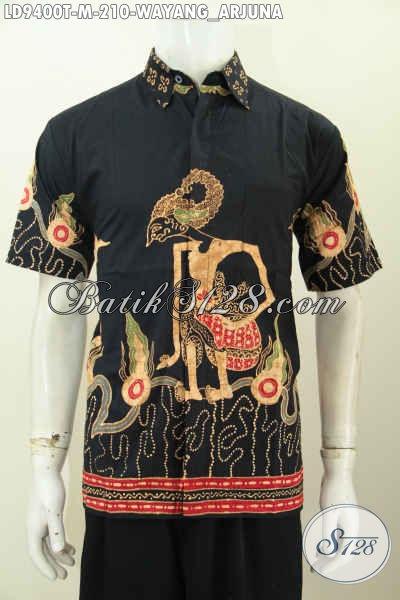 Baju Batik Hem Pria Terbaru, Hadir Dengan Desain Trendy Motif Wayang Arjuna Proses Tulis Harga 210K [LD9400T-M]