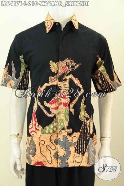 Batik Hem Solo Motif Srikandi, Kemeja Batik Modis Dan Elegan, Pas Untuk Jalan-Jalan Dan Kerja, Size L