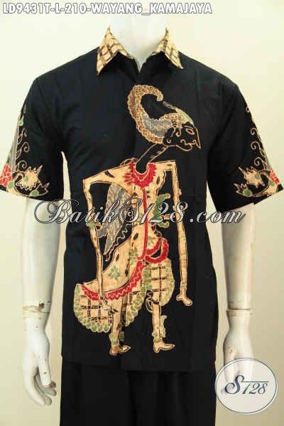 Pusat Pakaian Batik Solo Online Paling Up To Date, Jual Kemeja Batik Tulis Motif Wayang Kamajaya Lengan Pendek, Bikin Penampilan Gagah Dan Tampan [LD9431T-L]