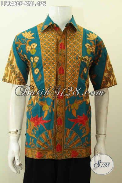Hem Batik Kerja Pria Kantoran, Busana Batik Elegan Motif Klasik Lengan Pendek Bahan Adem Proses Printing Hanya 125K [LD9460P-S]