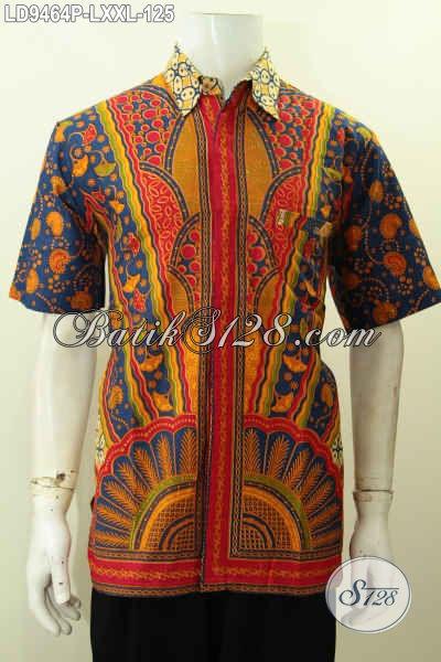 Toko Baju Batik Online Terlengkap, Sedia Pakaian Batik Berkelas Nan Istimewa Untuk Kerja Dan Acara Formal Hanya 125 Ribu [LD9464P-L]