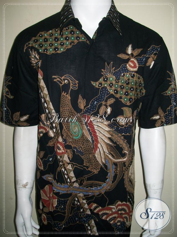 Batik Pria Motif Burung Cendrawasih, Koleksi Online Terbaru [LD947T-L]