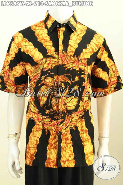 Produk Terbaru Kemeja Batik Pria 2017, Pakaian Batik Istimewa Bahan Adem Motif Sarang Burung Proses Tulis Soga Hanya 210K, Size XL