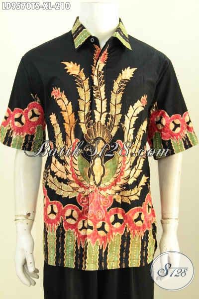 Baju Batik Pria Terkini, Hem Batik Lelaki Dewasa Rilis 2019, Produk Busana Batik Berkelas Proses Tulis Soga Tampil Gagah Dan Tampan [LD9570TS-XL]