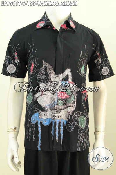 Hem Batik Wayang ProsesTulis Murmer, Kemeja Batik Lengan Pendek Modis Harga 155K, Pas Buat Gaul Size S