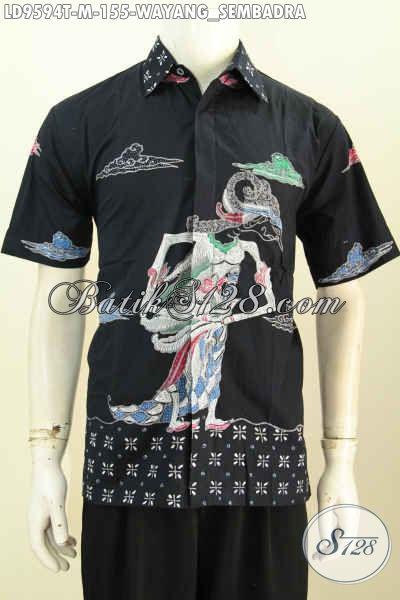 Toko Pakaian Batik Online Sedia Hem Lengan Pendek Proses Tulis Hanya 100 Ribuan, Kemeja Batik Wayang Motif Sembadra Keren, Spesial Buat Lelaki Muda Tampil Gaya [LD9594T-M]