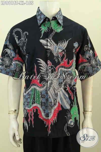 Baju Batik Pria Dewasa, Hem Lengan Pendek Size XL Motif Bagus Kekinian Proses Tulis Harga 155K, Bisa Untuk Seragam Kerja [LD9618T-XL]