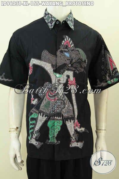 Online Shop Batik Paling Up To Date, Sedia Kemeja Lengan Pendek Halus Proses Tulis Motif Wayang Brotoseno Kwalitas Istimewa Dengan Harga Biasa [LD9623T-XL]