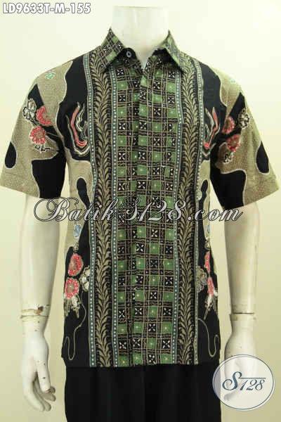 Hem Batik Pria Kombinasi Baju Batik Tulis Murmer Lengan
