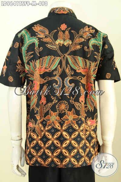 Batik Kemeja Kerja Lengan Pendek Mewah, Hem Batik Full Furing Motif Kekinian Proses Tulis Soga Bahan Adem Nyaman Di Pakai, Size M