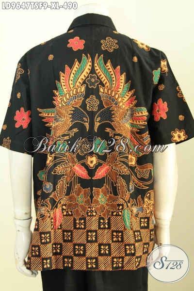 Batik Hem Solo Premium Lengan Pendek, Kemeja Batik Berkelas Desain Mewah Untuk Penampilan Lebih Wah, Size XL