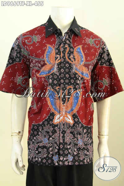 Hem Batik Halus Motif Kekinian, Kemeja Lengan Pendek Keren Untuk Pria Tampil Menawan Dan Keren, Baju Batik Solo Full Furing Harga Di Bawah 500 Ribu [LD9669TF-XL]