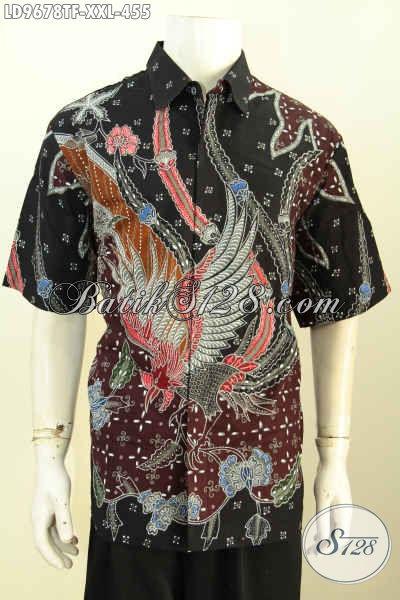 Produk Kemeja Batik Jawa Masa Kini, Hem Batik Halus Full Furing Lengan Pendek Yang Bikin Penampilan Lebih Gagah Dan Gaya, Size XXL