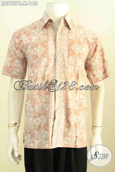 Batik Hem Keren Masa Kini, Pakaian Batik Solo Terbaru Untuk Tampil Gagah Dan Gaya Kwalitas Istimewa Hanya 140K Proses Cap [LD9707C-M]