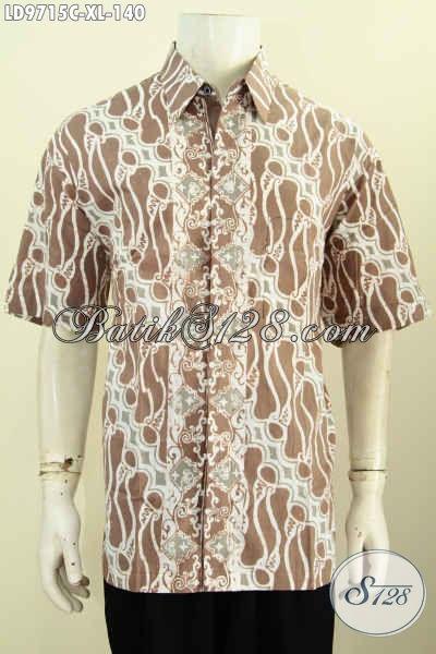 Kemeja Batik Keren Pria Dewasa, Pakaian Batik Halus Desain Terkini Yang Membuat Penampilan Lebih Gaya Dan Berkelas Harga 140 Ribu [LD9715C-XL]