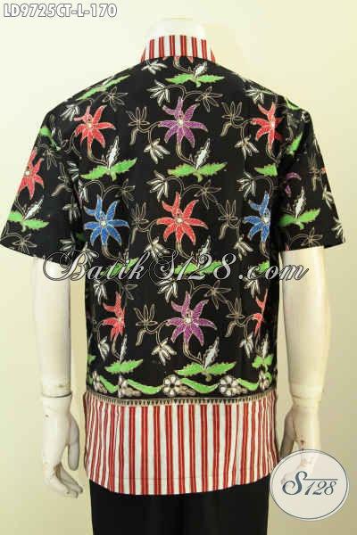 Jual Online Baju Batik Trendy, Hem Batik Gaul Modis Lengan Pendek Nan Istimewa Proses Cap Tulis, Cocok Untuk Kerja Dan Hangout [LD9725CT-L]