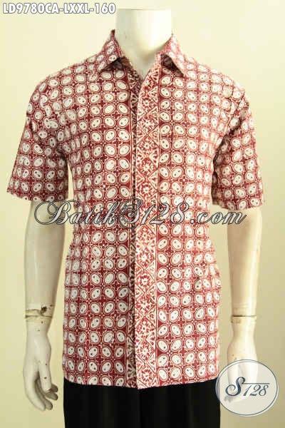 Sedia Aneka Pakaian Batik Jawa Terbaru Untuk Pria, Busana Batik Keren Desain Kekinian Bahan Adem Proses Cap Warna Alam, Tampil Ganteng Maksimal [LD9780CA-L]